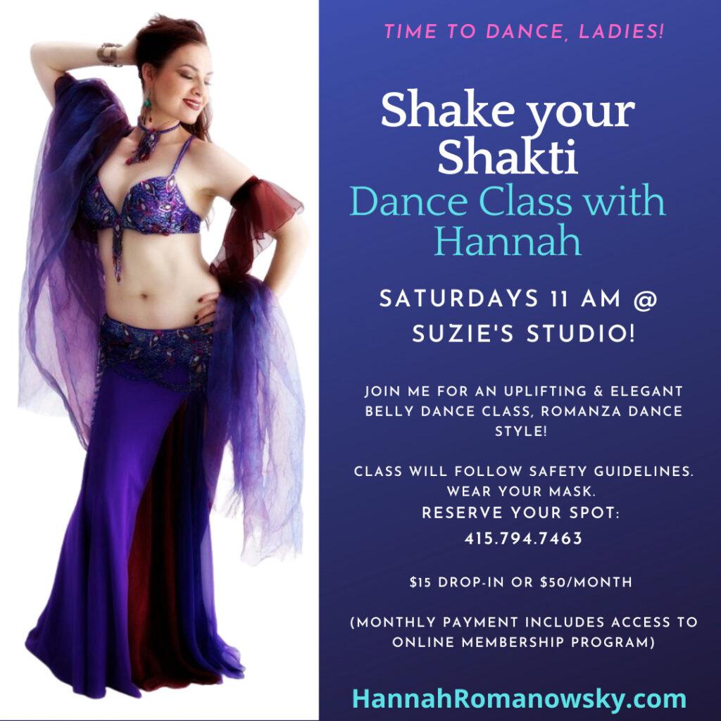 Shake your shakti belly dance classes at Suzie's Studio
